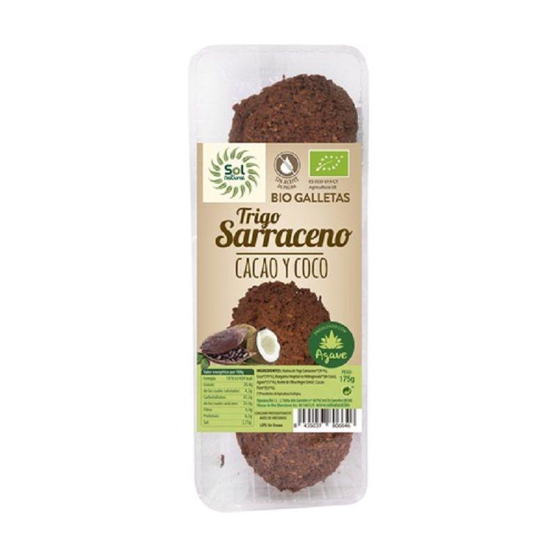 Galletas Trigo Sarraceno cacao y coco Sol Natural