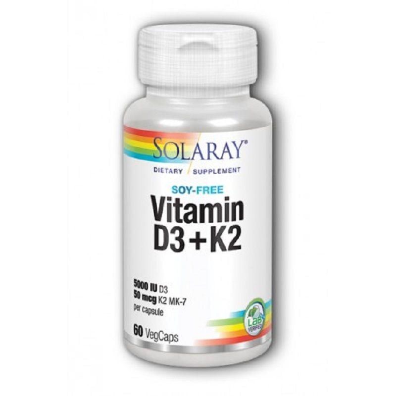 Vitamina D3 + K2 Solaray